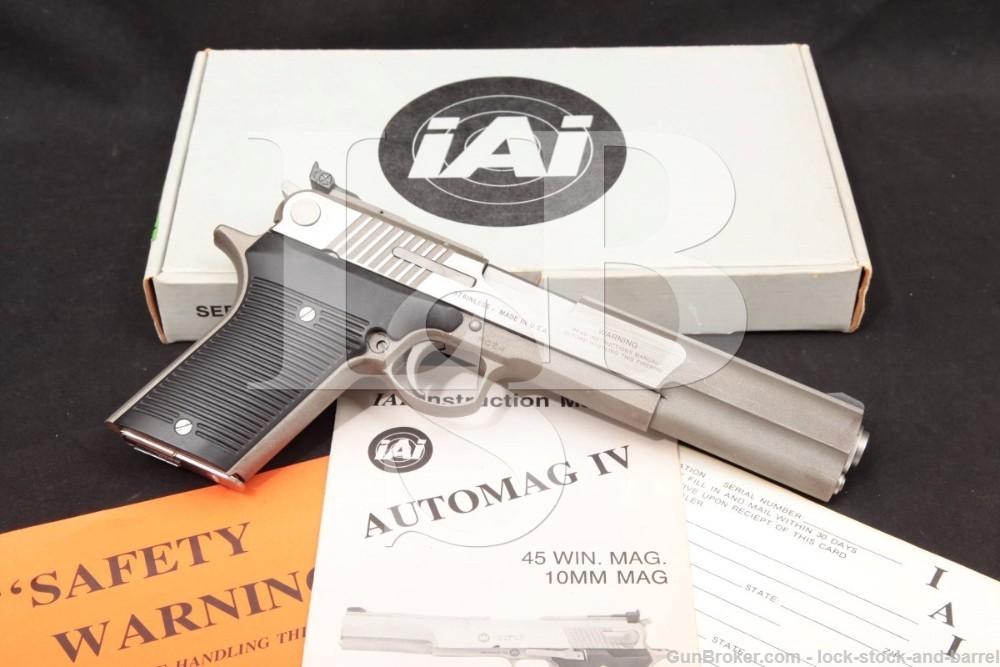 rwindale IAI AMT Automag IV RCZ-1 .45 Win Mag Semi-Auto Pistol, 1990-1991