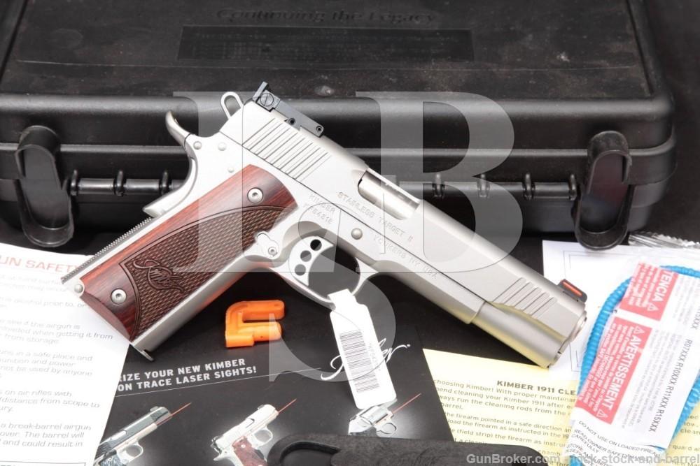 "Kimber Model Stainless Target II 2 1911 1911-A1 9mm 5"" Semi-Auto Pistol"