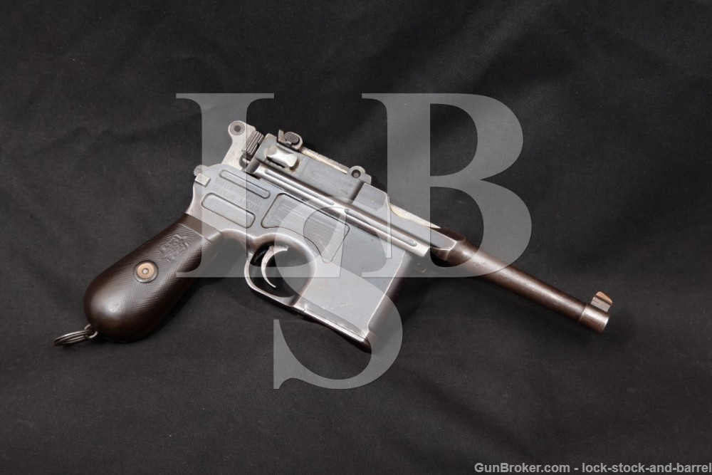 Mauser Commercial C96 Broomhandle 7.63mm .30 Semi-Auto Pistol, 1915-21 C&R