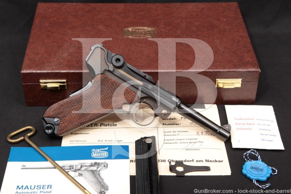 Mauser Post-War Commercial Luger 9mm Semi-Auto Pistol, 1970s ATF C&R