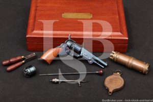 Miniature Colt Paterson Non-Firing Replica Revolver, Case & Accessories