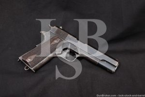 Norwegian M1914 M-1914 Kongsberg Colt 11.25mm Semi-Auto Pistol, 1919 C&R