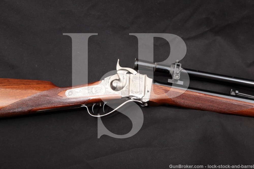 "Pedersoli 1874 Sharps Deluxe 32"" .45-70 Gov't Rifle & MVA 4000 Scope, 2002"