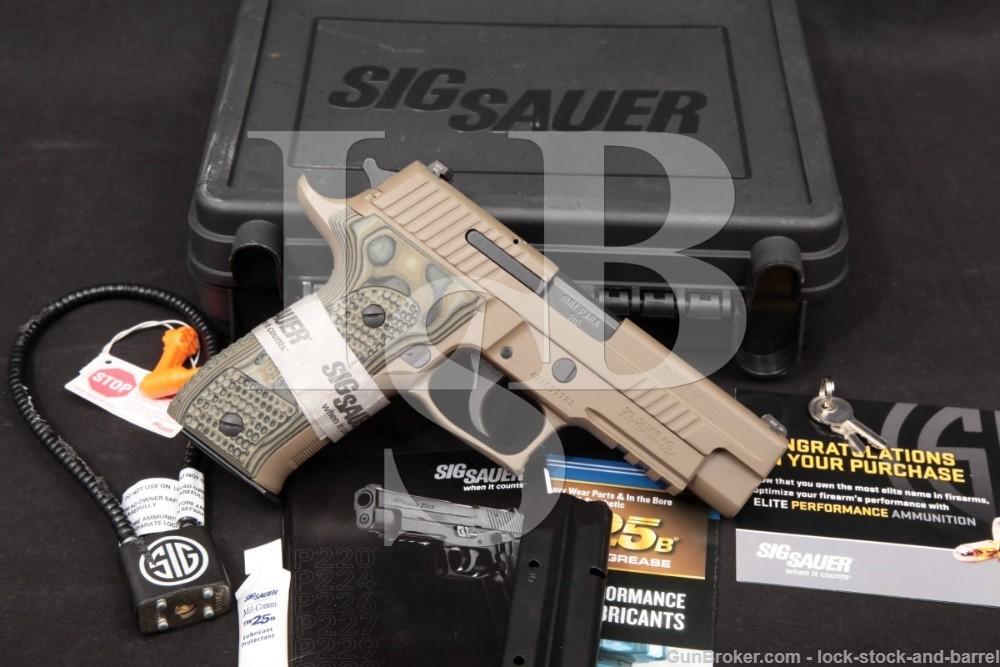 """Sig Sauer Model P226 Scorpion Elite 9mm 4.4"""" DA/SA Semi-Auto Pistol 2016"""