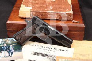 USMC Captain James Burns Colt Commercial Government Model 1911, 1966 C&R