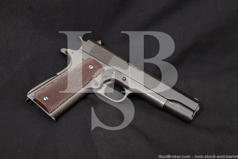 WWII US Colt Model 1911A1 1911-A1 RIA .45 ACP Semi-Auto Pistol, 1943 C&R