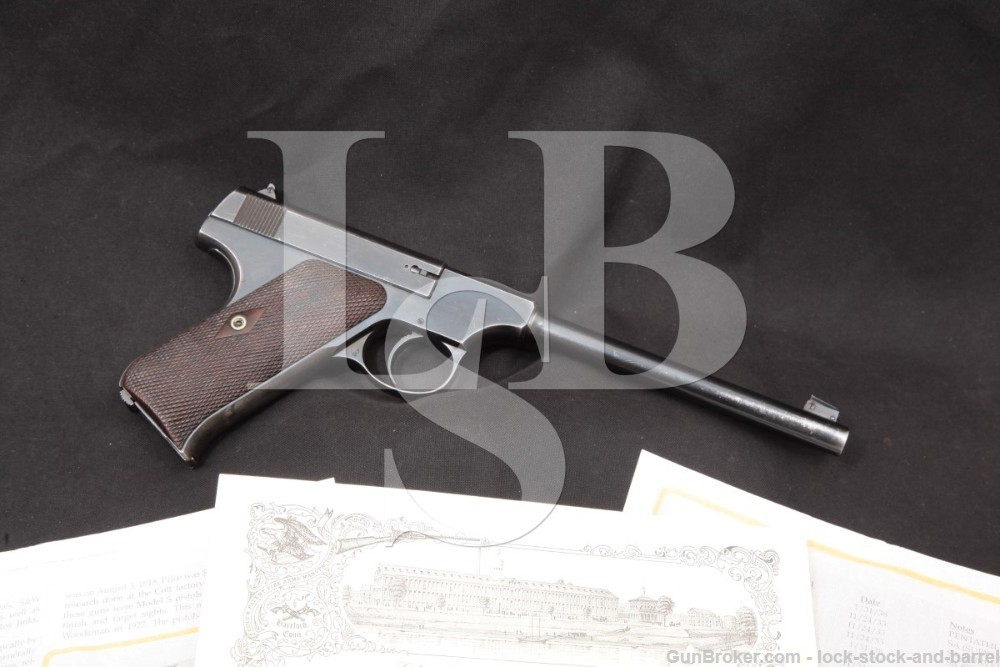 1 of 100 Camp Perry Colt .22 Automatic Pre-Woodsman Pistol, MFD 1918 C&R