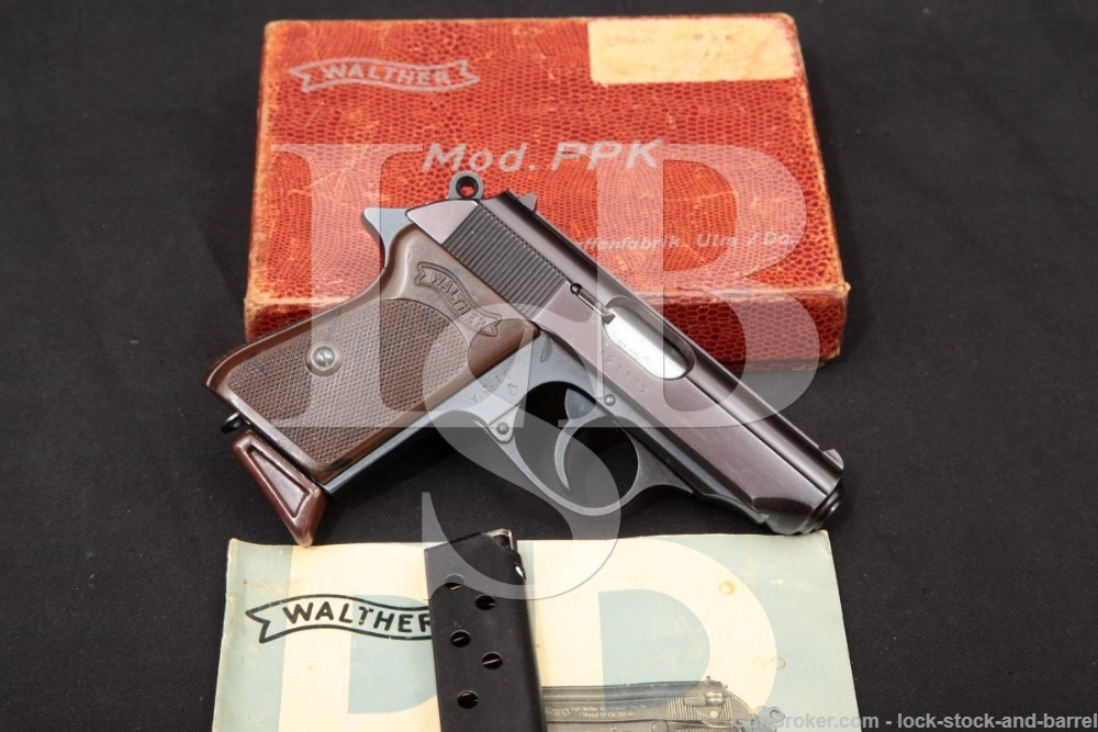 West German Walther Model PPK .380 ACP 9mm Kurz Semi-Auto Pistol, 1967 C&R