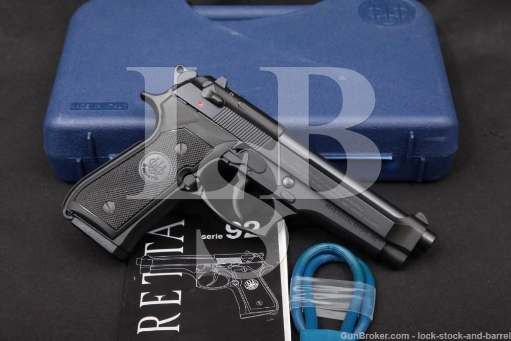 """Beretta Model 92FS 92-FS 9mm 4.9"""" Double Action DA/SA Semi-Auto Pistol 2016"""