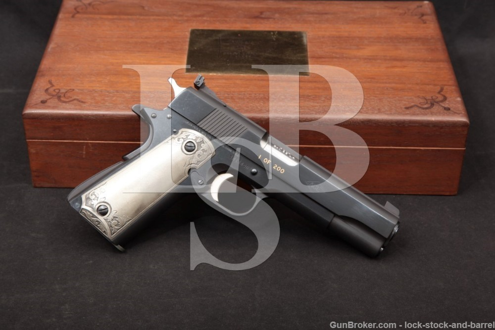 Colt Arkansas Special Edition 1 of 200 Service Model Ace .22 Pistol, 1978