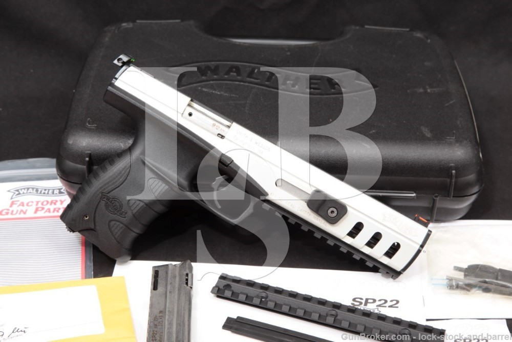 "Walther Model SP22-M2 SP22M2 .22 LR 6"" Single Action Semi-Auto Pistol 2007"