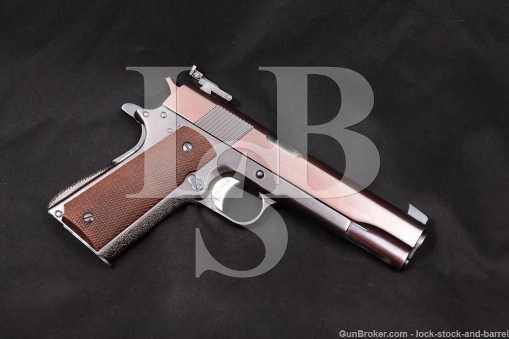 Custom Colt National Match 1911A1 1911-A1 .45 ACP Semi-Auto Pistol, 1945