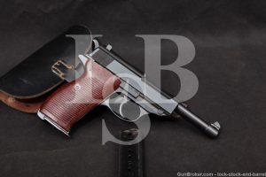 WWII German Walther P.38 P38 P-38 ac-42 ac42 9mm Semi-Auto Pistol, 1942 C&R
