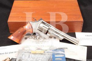 Smith & Wesson S&W Model 27-2 Nickel .357 Magnum Revolver, 1977-78 NO CA