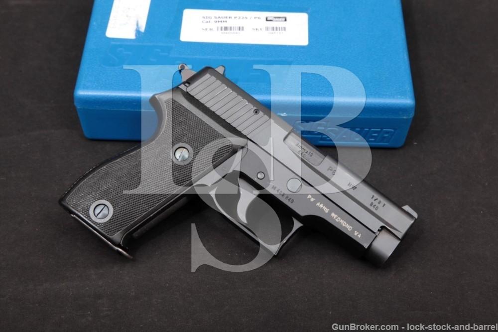 "Sig Sauer West Germany Police Model P6 9mm 3.75"" Semi-Auto Pistol 1981"