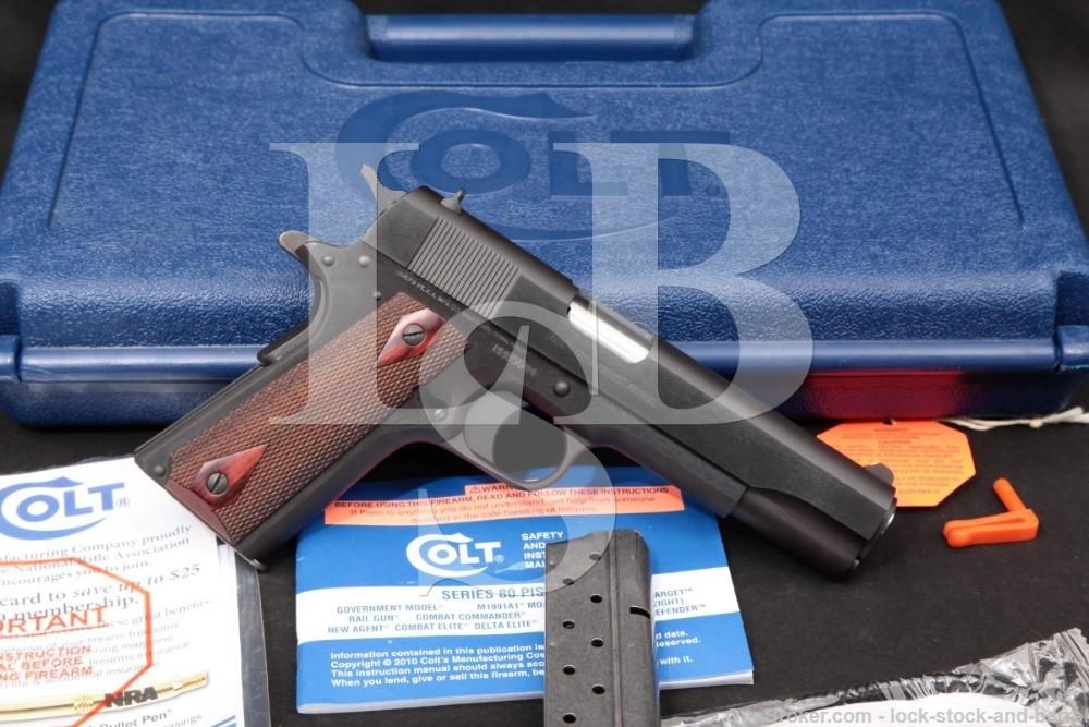 Colt Government Model 01992 1911 9mm Semi-Automatic Pistol, 2010-2020 NO CA