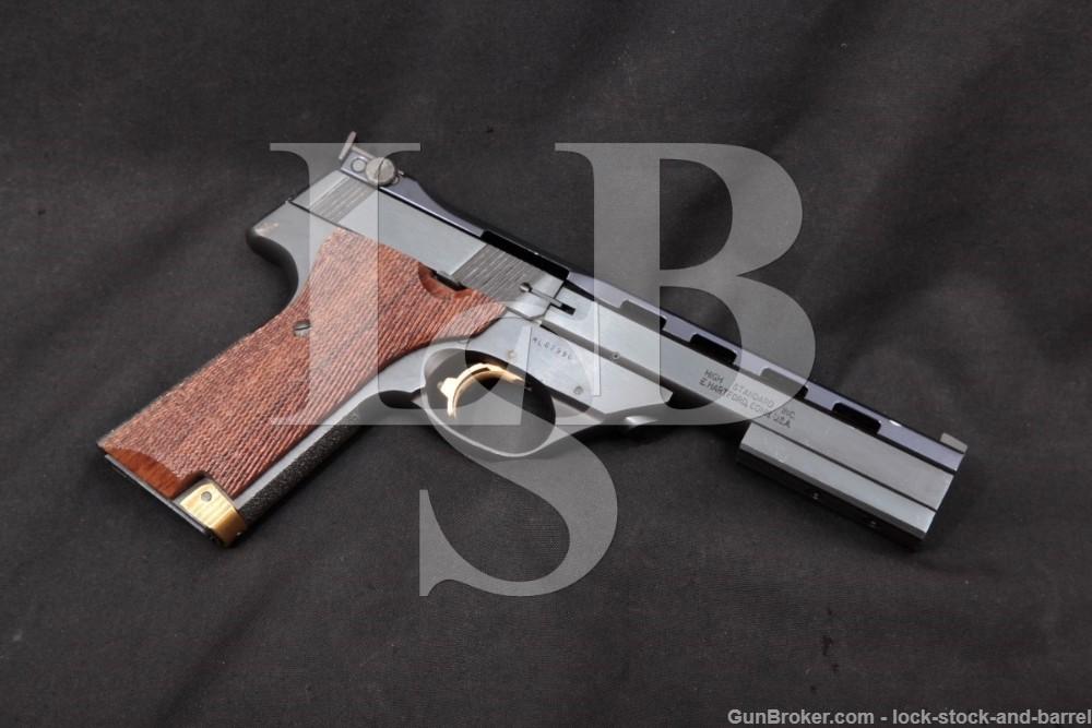 """Hi High Standard Victor Military ML 5 1/2"""" 22 LR Semi-Auto Pistol, MFD 1980"""