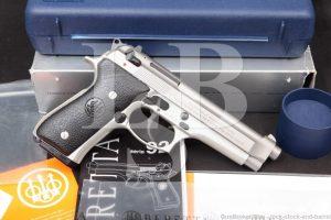 "Beretta 92FS Inox 92-FS 9mm 4.9"" Stainless DA/SA Semi-Auto Pistol 2017"