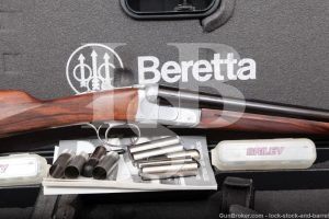 Beretta 470 Silver Hawk J470210 12 GA SXS Side by Side Shotgun, 1998/2002