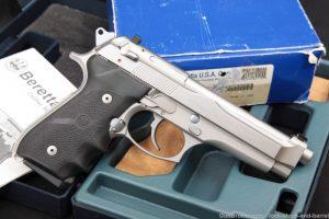 """Beretta Model 92FS Brigadier Inox Stainless 9mm 4.9"""" Semi-Auto Pistol 2001"""