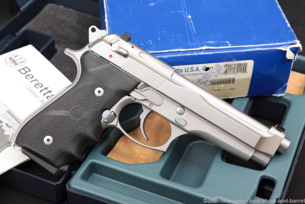 Beretta Model 92FS Brigadier Inox Stainless 9mm 4.9″ Semi-Auto Pistol 2001