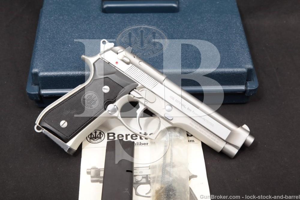 Beretta U.S.A. Model 92FS Inox Stainless 9mm DA/SA Semi-Auto Pistol 1999