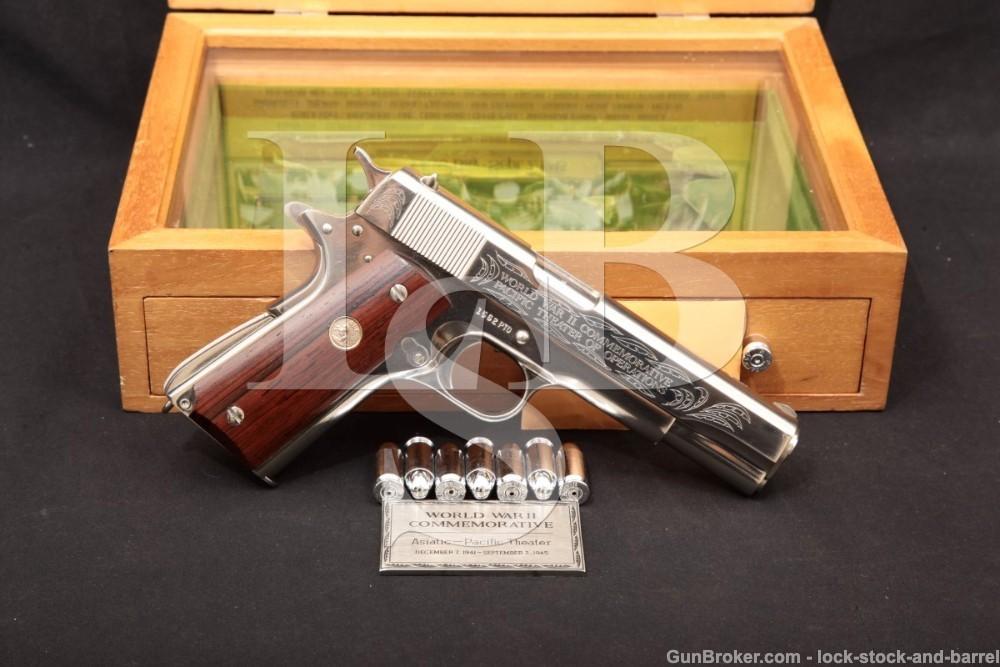 Colt 1911-A1 1911A1 WWII Pacific Theater PTO .45 ACP Semi-Auto Pistol, C&R