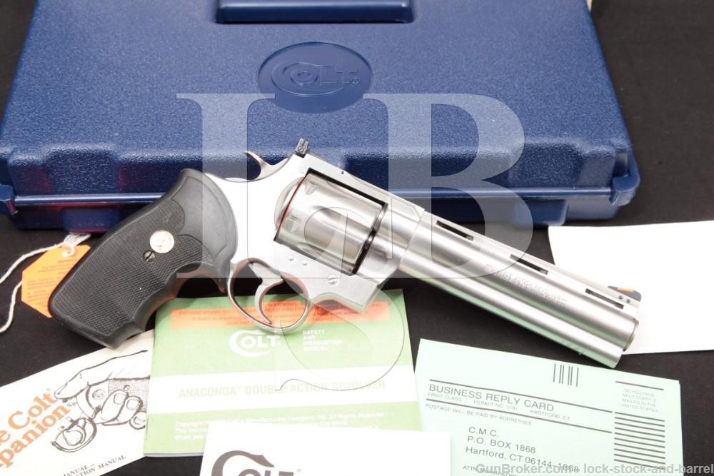 "Colt Anaconda Model MM3060 Stainless 6"" .44 Magnum SA/DA Revolver, MFD 1992"