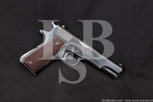 Colt Argentine Navy Commercial Government Model 1911 Pistol, MFD 1948 C&R