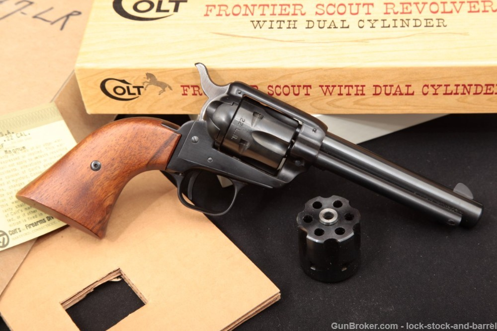 Colt Frontier Scout SAA Convertible .22 LR & .22 ,Magnum Revolver, 1969 C&R