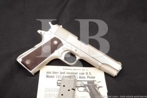 Colt Government Model 1911 Nickel .45 ACP Semi-Auto Pistol, 1960 C&R