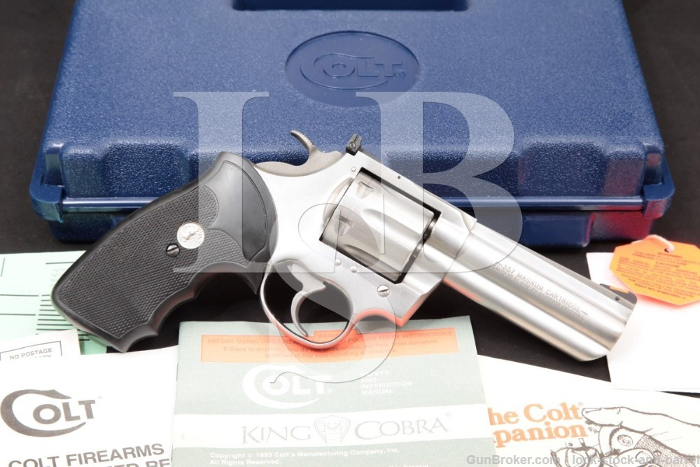 """Colt King Cobra AA3040 4"""" Stainless .357 Magnum Double Action Revolver 1994"""