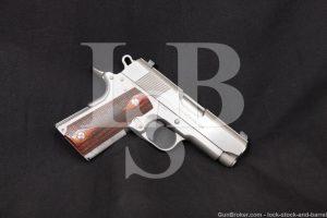 Colt MK IV Series 80 Officer's ACP Stainless 1911 45 Semi-Auto Pistol, 1994