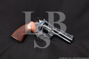 "Colt Python Model 4"" Blue .357 Magnum Double Action Revolver, MFD 1967 C&R"
