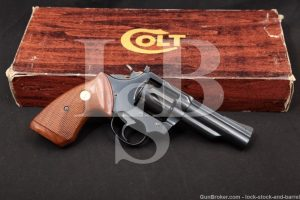 "Colt Trooper Mark Mk III MKIII 4"" Blue .22 WMR Magnum Revolver, MFD 1980"