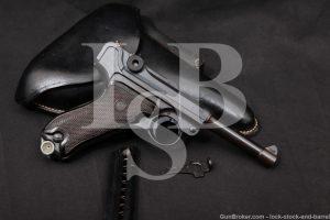 DWM 1920 Double Date P.08 P-08 P08 Luger 9mm Semi-Auto Pistol, MFD 1913 C&R
