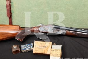 Engraved Victor Sarasqueta Sidelock .375 H&H Magnum Double Rifle, 1952 C&R