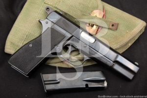 FN Browning Argentine Buenos Aires Hi High Power 9mm Semi-Auto Pistol, 1961