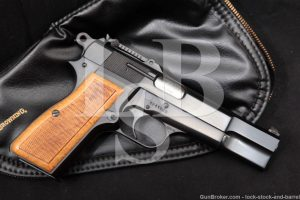 FN Browning Hi Power T-Series Tangent Sight 9mm Semi-Auto Pistol. 1967 C&R