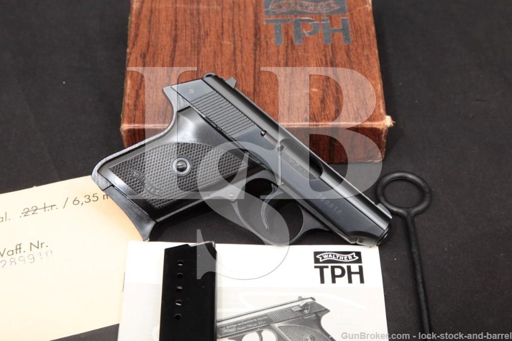 German Walther Model TPH Blue .25 ACP 6,35mm Semi-Auto Pistol, 1984 ATF C&R