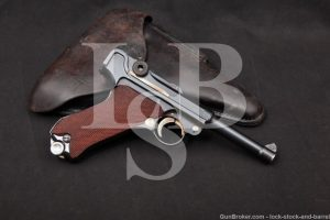 Interwar Mauser 42 P.08 P-08 P08 Luger 9mm Semi-Auto Pistol, MFD 1937 C&R