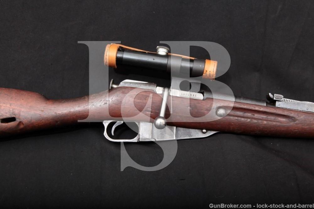 Izhevsk Russian Mosin Nagant 91/30 PU Sniper 7.62x54R WWII Rifle 1942 C&R