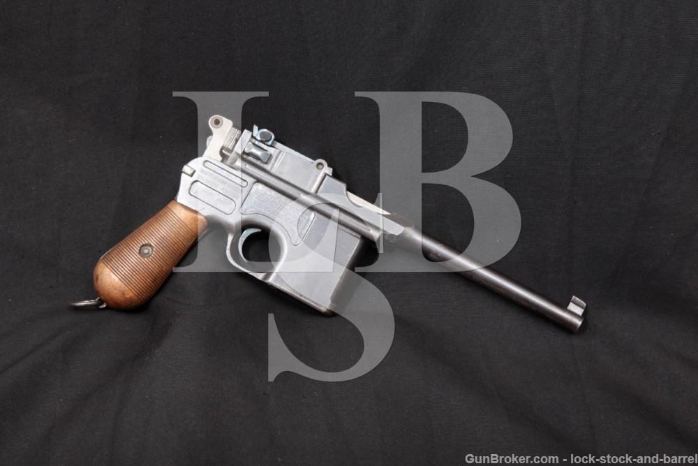 Mauser 1896 C96 Broomandle 7.63mm .30 Cal Semi-Auto Pistol, 1915-1921 C&R