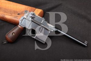 Mauser C96 C-96 Broomhandle S.W. Silver Westley Richards, MFD 1898 Antique