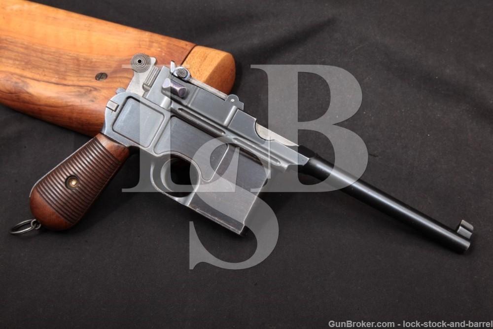 Mauser C96 C-96 Broomhandle S.W. Silver Westley Richards, MFD 1898 Antique
