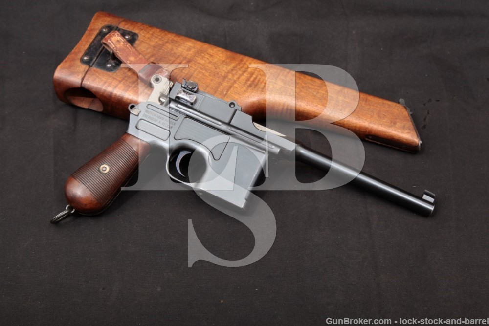 Mauser Model 1896 C96 Broomhandle 7.63mm .30 Cal Semi-Auto Pistol, 1913 C&R