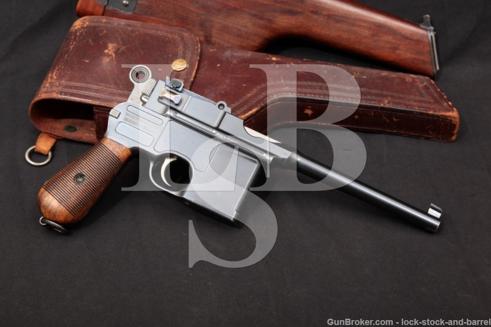 Mauser Model 1896 C96 Broomhandle 7.63mm .30 Semi-Auto Pistol 1902-1903 C&R