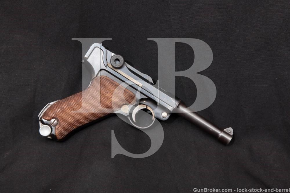 Nazi German Mauser P.08 P08 S/42 S42 Luger 9mm Semi-Auto Pistol, 1936 C&R