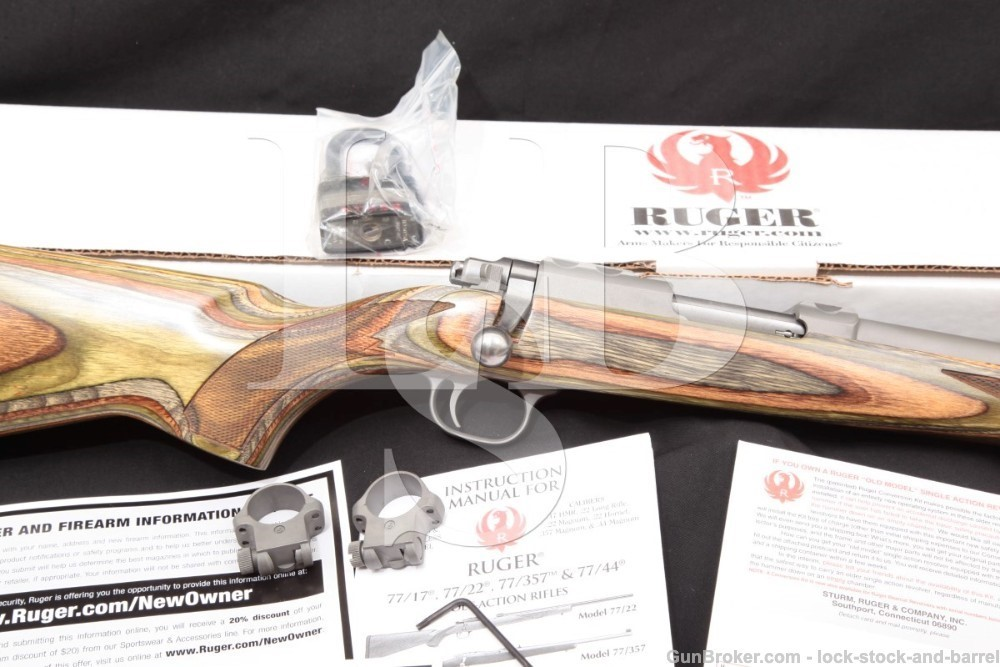 Ruger 77/17 77-17 7717 07212 Stainless .17 Hornet Bolt Action Rifle, 2013