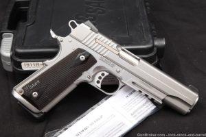 "Sig Sauer 1911 Railed 1911A1 .45 ACP 5"" Single Action Semi-Auto Pistol"